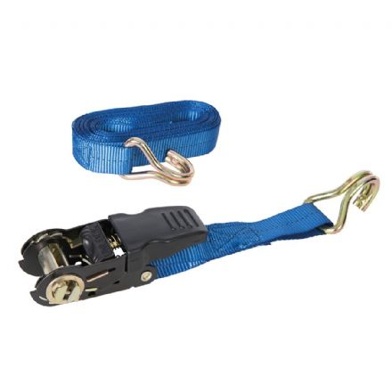 Rubber-Handled Ratchet Tie Down Strap J-Hook 4.5m x 25mm